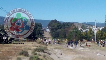 Controlan fuga de combustible por toma clandestina en Hidalgo