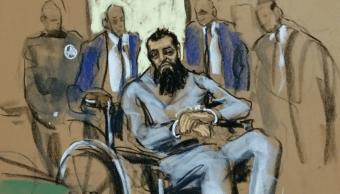 Imagen representativa del interrogatorio a Sayfullo Saipov, atacante de Manhattan