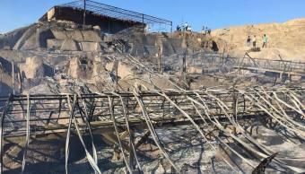 Incendio afecta mural en la zona arqueológica de Ventarrón, en Perú