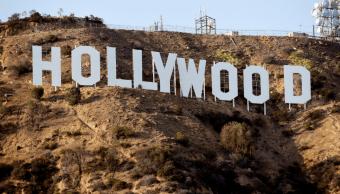 Letrero de Hollywood, capital del cine en Estados Unidos
