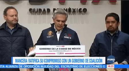 Mancera Reitera Apoyo Coalición México Frente