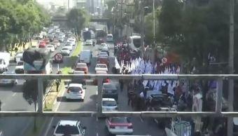 manifestacion en constituyentes cdmx trafico