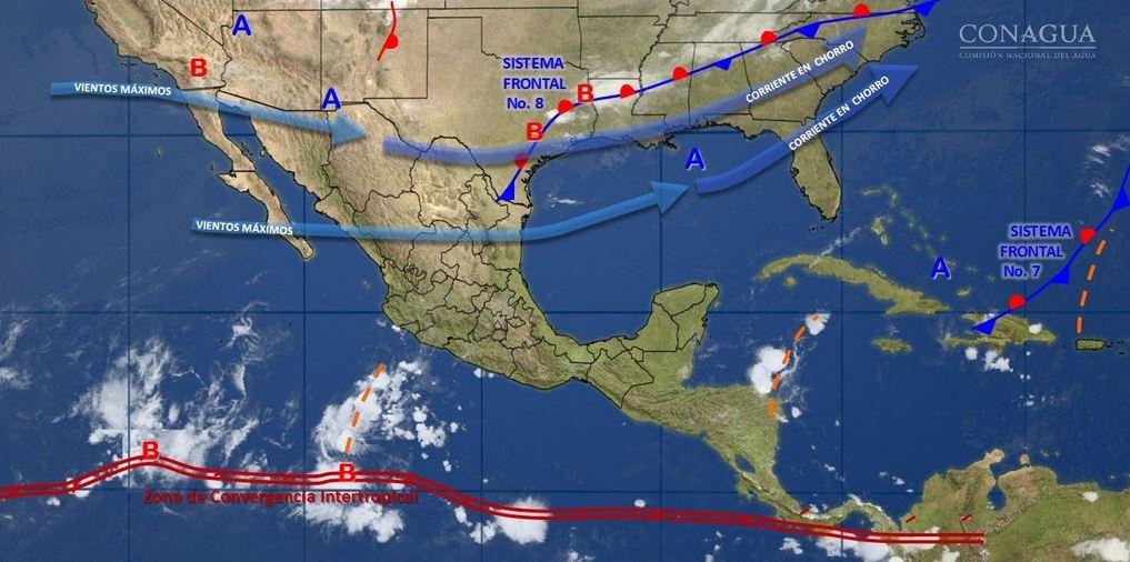 mapa con el clima para este 1 de noviembre