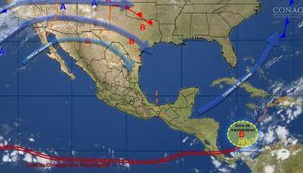 mapa con el pornstico del clima para este 17 de noiembre