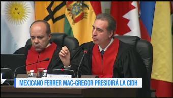 Mexicano Ferrer Mac-Gregor presidirá la CIDH