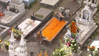 Mixquic, vacío y poco festivo en Día de Muertos