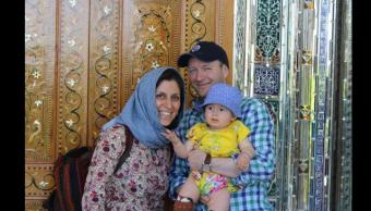 Nazanin Zaghari-Ratcliffe y su esposo Richard Ratcliffe