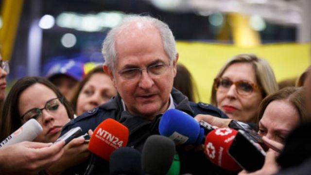 Opositor venezolano Antonio Ledezma se reunirá con el secretario general de la OEA, Luis Almagro. (Gettyimages)