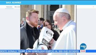 Papa Francisco bendice al 'Canelo' Álvarez