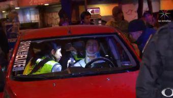 Patrulla choca contra un auto en la CDMX