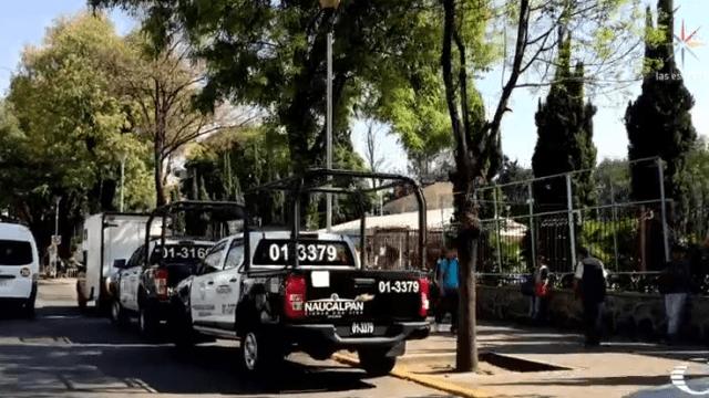 Patrullas de Naucalpan en calles del Edomex