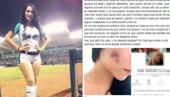 Porrista, Saraperos de Saltillo, Golpes, Moretones, Facebook, Denuncia