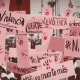 Protesta con cruces rosas por feminicidios en Edomex