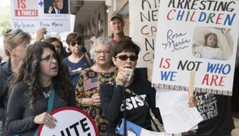 Protestan arresto de Rosa María Hernández menor con parálisis cerebral en Texas