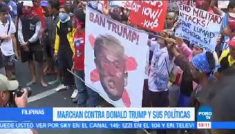 Marchan Contra Donald Trump Políticas Filipinas