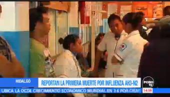 Reportan Primera Muerte Influenza AH3N2 Hidalgo