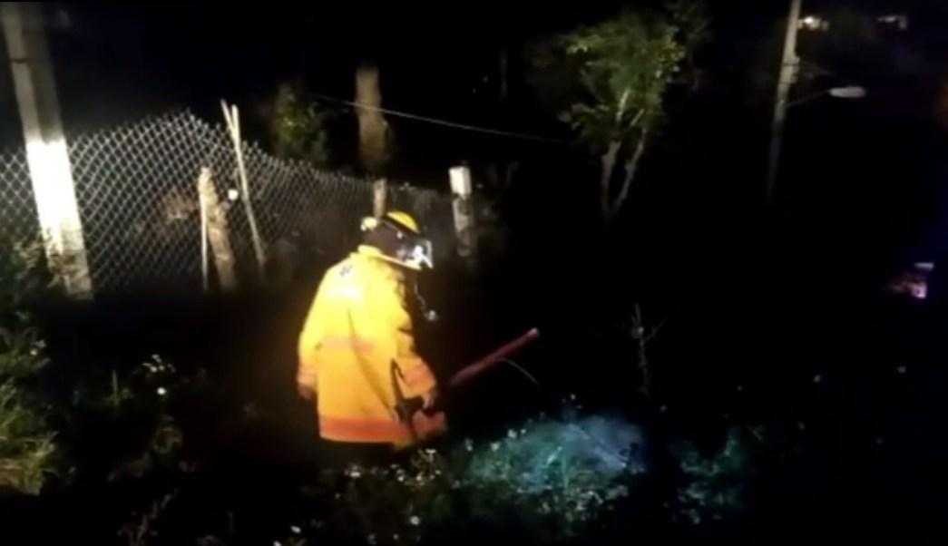 rescatan a un hombre que fue sepultado por un alud
