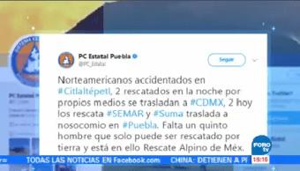 Rescatan Cuatro Alpinistas Pico Orizaba Puebla