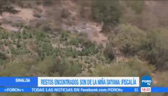 Restos Encontrados Sinaloa Niña Dayana Fiscalía San Pedro Navolato