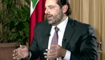 Saad Hariri durante una entrevista en Arabia Saudita