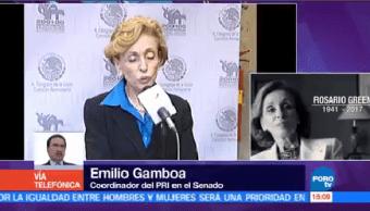 Senador Emilio Gamboa Destaca Trayectoria Rosario Green