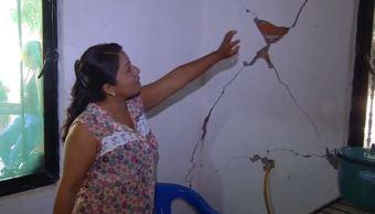 Casas afectadas por réplicas de sismo en Oaxaca continúan sin censar