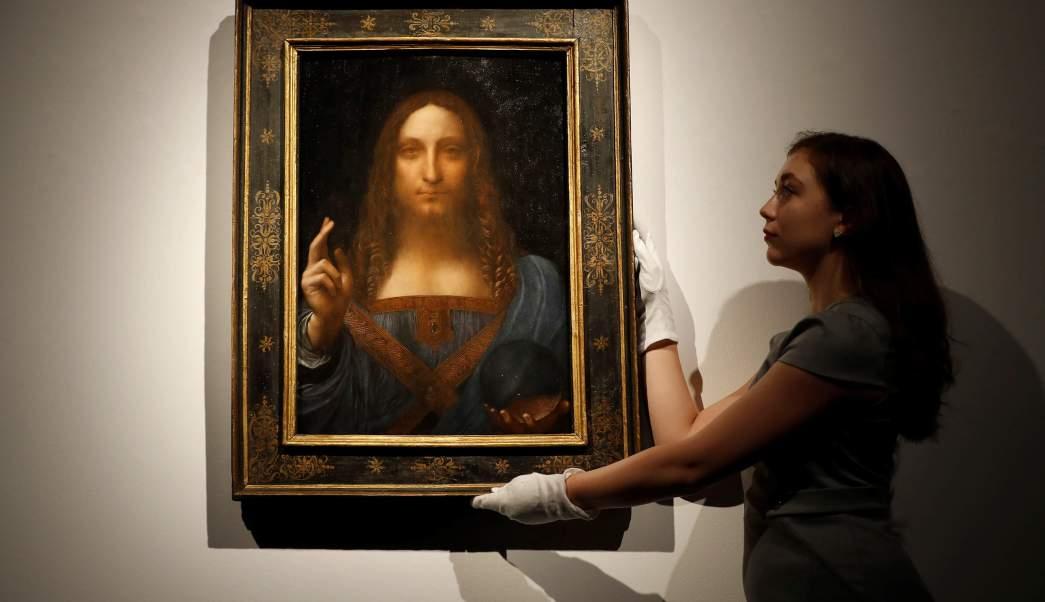 Subastan cuadro Leonardo Da Vinci Salvator Mundi 450 mdd
