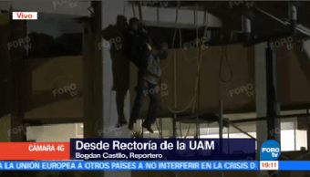 Trabajadores Quedan Atrapados Caer Andamio Instalaciones Uam