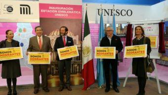 STC Metro rinde homenaje a la Unesco en la estación Polanco