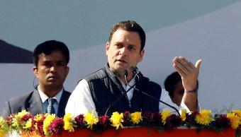rahul gandhi toma posesion presidente partido congreso india