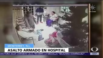Hombres armados asaltan hospital en Monterrey, Nuevo León