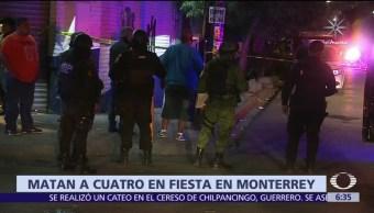 Se registra ataque durante fiesta de cumpleaños en Monterrey