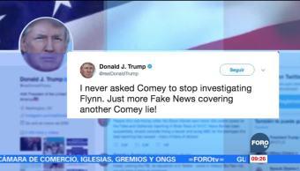Trump niega haber pedido al FBI que se cerrara investigación de Flynn
