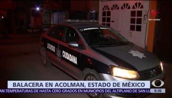 Mueren 4 personas a tiros tras discusión en Acolman, Edomex