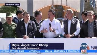 Osorio Chong encabeza simulacro de evacuación por erupción del Popocatépetl