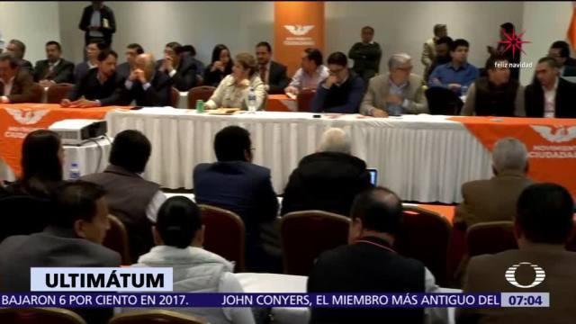 Movimiento Ciudadano propone al PAN para la candidatura presidencial del Frente