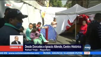 Permanece plantón en Donceles e Ignacio Allende, CDMX