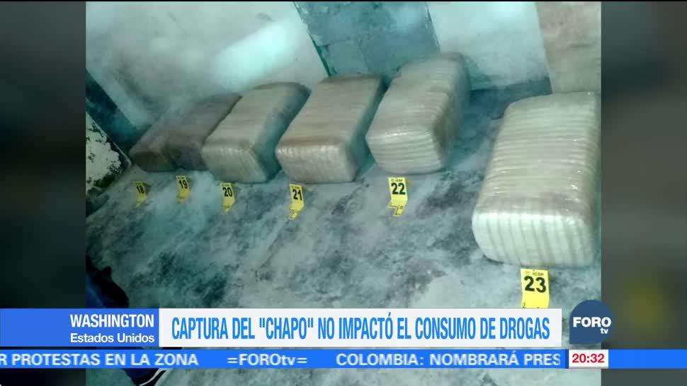 Captura de El Chapo no ha impactado el consumo drogas EU