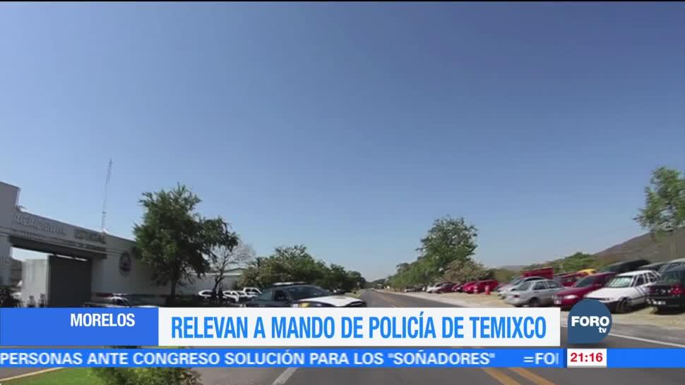 Relevan a mando de policía de Temixco Morelos