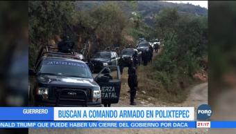 Buscan a comando armado en Polixtepec,Guerrero
