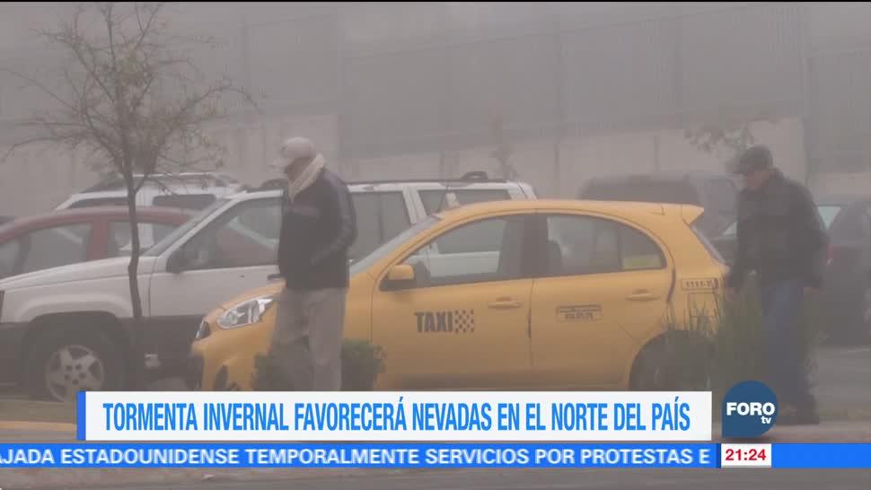 Tormenta invernal favorecerá nevadas en México