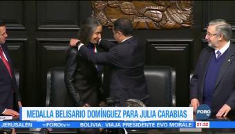 Medalla Belisario Domínguez para Julia Carabias
