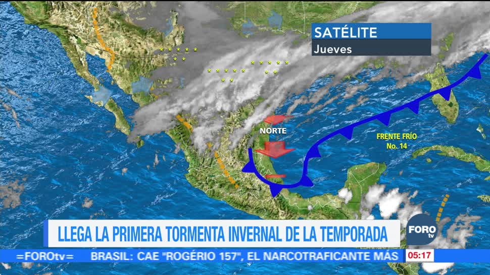 Masa polar en México provocará descenso de temperaturas