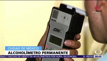 Policía CDMX aplicará alcoholímetro las 24 horas en 20 puntos itinerantes