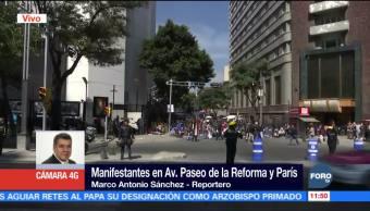 Manifestantes llegan al Senado de la República, CDMX