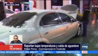 Tormenta invernal desata nevadas y caída de aguanieve en Coahuila