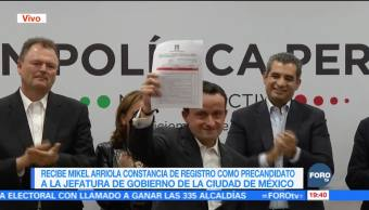 Mikel Arriola solicita registro como precandidato del PRI a la CDMX