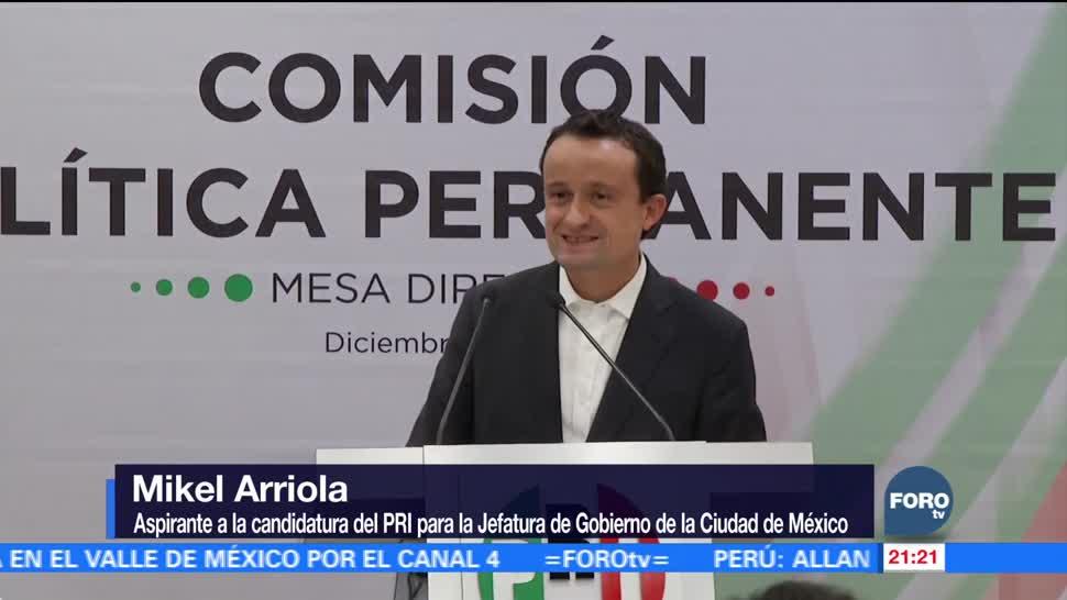 Mikel Arriola buscará la candidatura del PRI a la CDMX