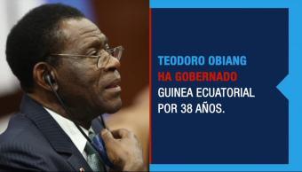 Teodoro Obiang casi 40 años en el poder ando en Guinea Ecuatorial