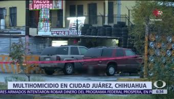 Asesinan a seis personas en un taller mecánico de Ciudad Juárez